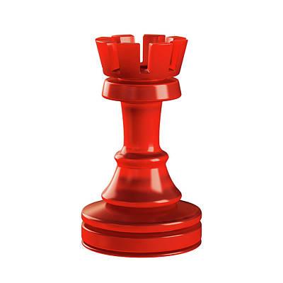 Rook Chess Piece Art Print