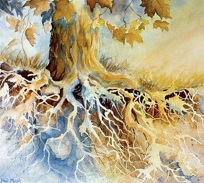 Wall Art - Painting - Roots by Paula Marsh