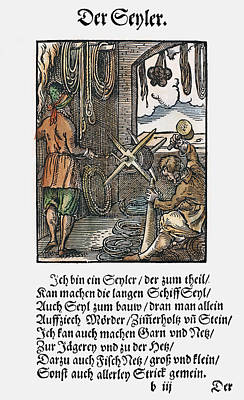 Display Window Painting - Rope Maker, 1568 by Granger