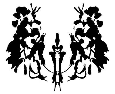 Psychiatry Painting - Rorschach Inkblot by Granger