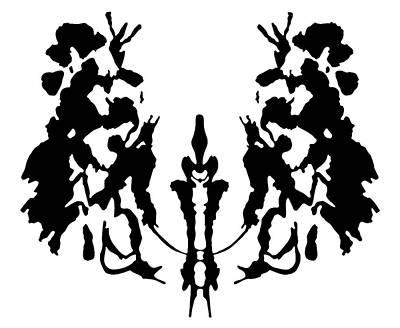 Rorschach Inkblot Art Print by Granger