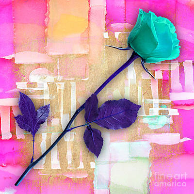 Flower Mixed Media - Rose by Marvin Blaine