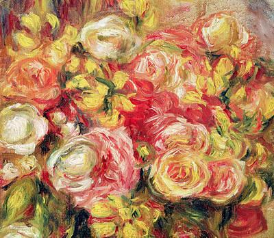 Roses Print by Pierre Auguste Renoir
