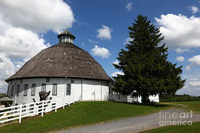 Round Barn Photograph - Biglerville Round Barn Near Gettysburg by James Brunker