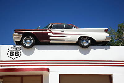 Route 66 - Desoto's Salon Art Print by Frank Romeo