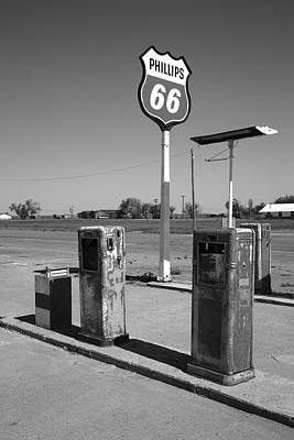 Photograph - Route 66 Gas Pumps by Frank Romeo