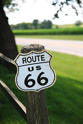 Photograph - Route 66 Shield by Frank Romeo