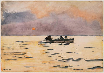 Rowing Home Art Print by Winslow Homer