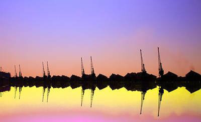Excel Photograph - Royal Docks Cranes  Art by David French