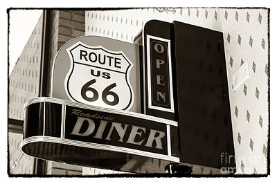 Photograph - Rt. 66 Diner by John Rizzuto