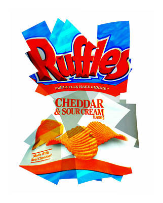 Sour Photograph - Ruffles by Diana Angstadt