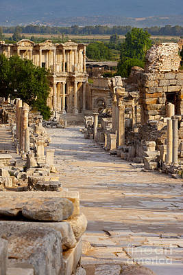 Library Of Celsus Photograph - Ruins Of Ephesus by Brian Jannsen