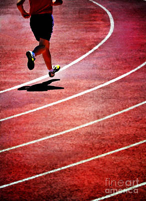 Overcoming Mixed Media - Running A Race by Lane Erickson
