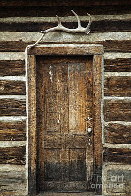 Rustic Cabin Door Art Print by John Stephens