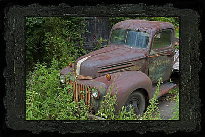 Photograph - Rusty Classic Ford Pickup Truck by John Stephens