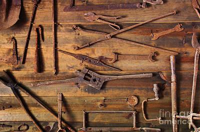 Rusty Tools Art Print by Carlos Caetano