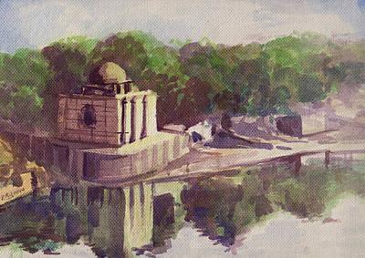 Sabarmati River Original by Prakash Leuva