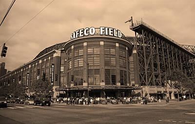 Safeco Field - Seattle Mariners Art Print by Frank Romeo