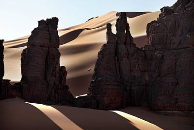 Saharan Rock Formations Art Print by Martin Rietze