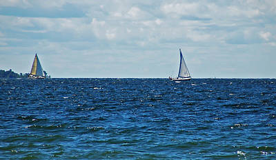 Photograph - 2 Sailboats by Aimee L Maher ALM GALLERY
