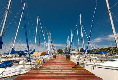 Sailing Boats In The Harbor Art Print