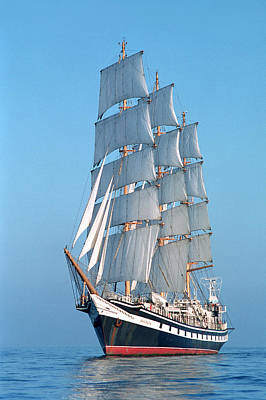 Ocean Sailing Photograph - Sailing Ship by Anonymous