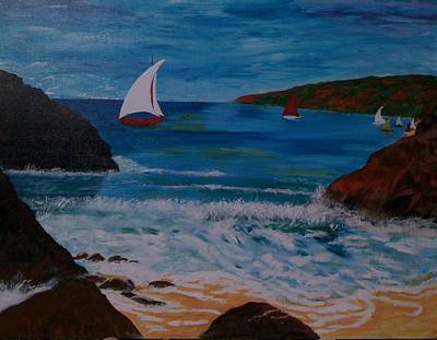 Art Print featuring the painting Sails by Judi Goodwin