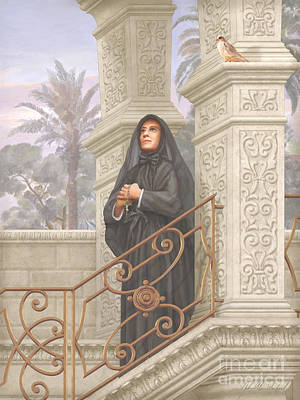 Devotional Painting - Saint Frances Xavier Cabrini by John Alan  Warford
