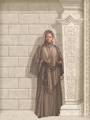 Communion Painting - Saint Josephine Bakhita by John Alan  Warford