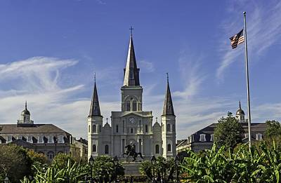 Photograph - Saint Louis Cathedral  New Orleans by Willie Harper