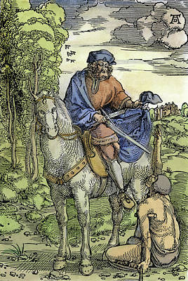 Cripple Painting - Saint Martin (c316-397) by Granger