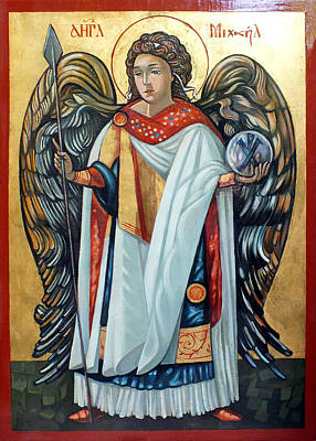 Egg Tempera Painting - Saint Michael by Filip Mihail