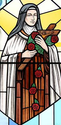 Glass Art - Saint Therese Of Lisieux by Gilroy Stained Glass