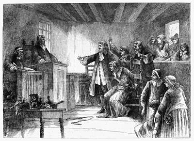 Discrimination Painting - Salem Witch Trials, 1692 by Granger