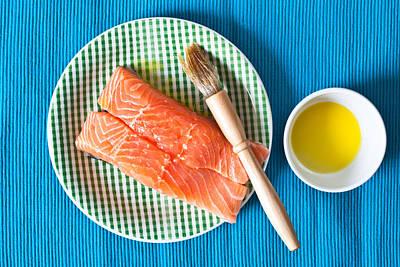 Fish Fillet Photograph - Salmon Fillets by Tom Gowanlock