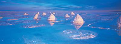 Salt Pyramids On Salt Flat, Salar De Art Print