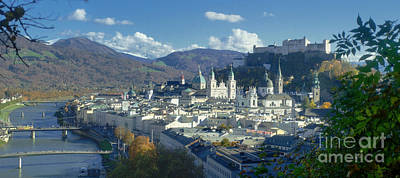 Photograph - Salzburg Panorama In Autumn by Rudi Prott