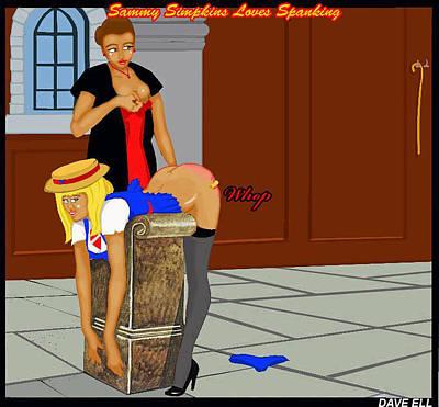 Poster cane spank