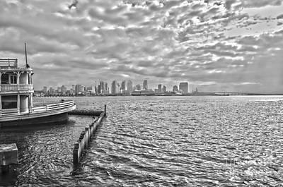 Balck Art Photograph - San Diego Bay Bnw by Baywest Imaging