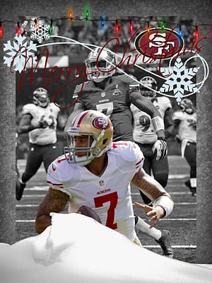 San Francisco 49ers Christmas Card Art Print