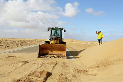 Moroccan Photograph - Sand-covered Road by Thierry Berrod, Mona Lisa Production