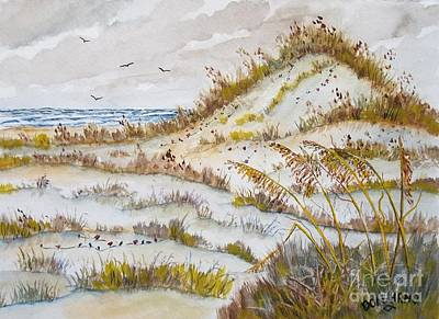 Sand Dunes Art Print by Don Hand