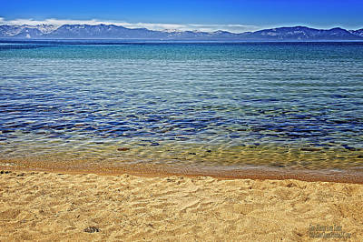 Stone Photograph - Sand Harbor Lake Tahoe Reflections by LeeAnn McLaneGoetz McLaneGoetzStudioLLCcom