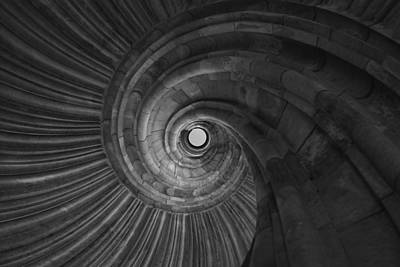 Photograph - Sand Stone Spiral Staircase by Falko Follert