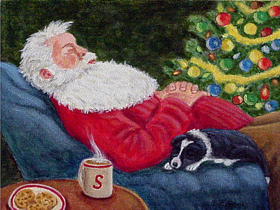 Santa And Breagh Art Print