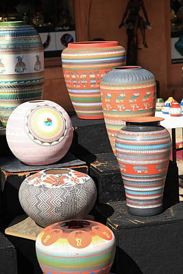 Photograph - Santa Fe - Pottery by Frank Romeo
