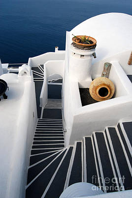 Photograph - Santorini Steps by Eva Kaufman