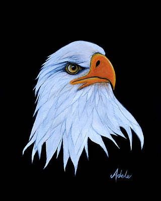 Eagle Painting - Sarah by Adele Moscaritolo