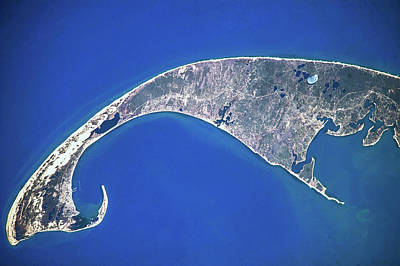 Cape Cod Bay Photograph - Satellite View Of Cape Cod National by Panoramic Images