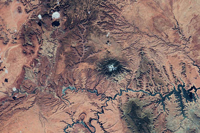 Photograph - Satellite View Of Novajo Nation by Panoramic Images